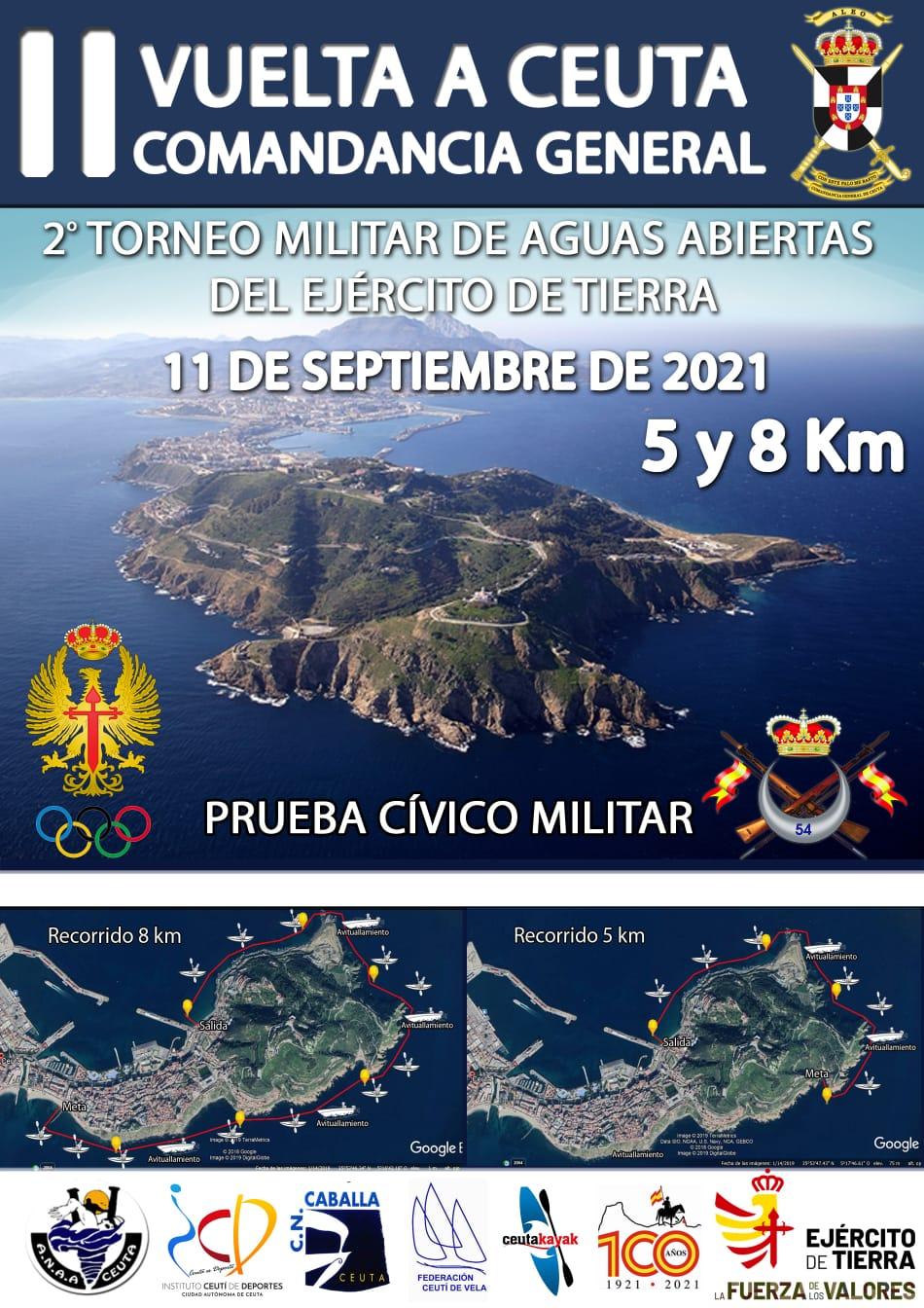 II VUELTA A CEUTA COMANDANCIA GENERAL 2º TORNEO MILITAR DE AGUAS ABIERTA DEL EJERCITO DE TIERRA
