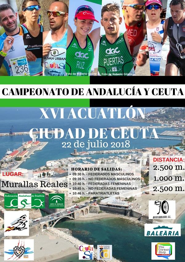 XVI ACUATLON CIUDAD DE CEUTA- CAMPEONATO DE ANDALUCIA Y CEUTA